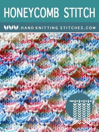 Hand #Knitting Stitches - Honeycomb #SlipStitchPattern  Hand #Knitting Stitches – Honeycomb #SlipStitchPattern  #Hand #HONEYCOMB #Knitting #SlipStitchPattern #Stitches
