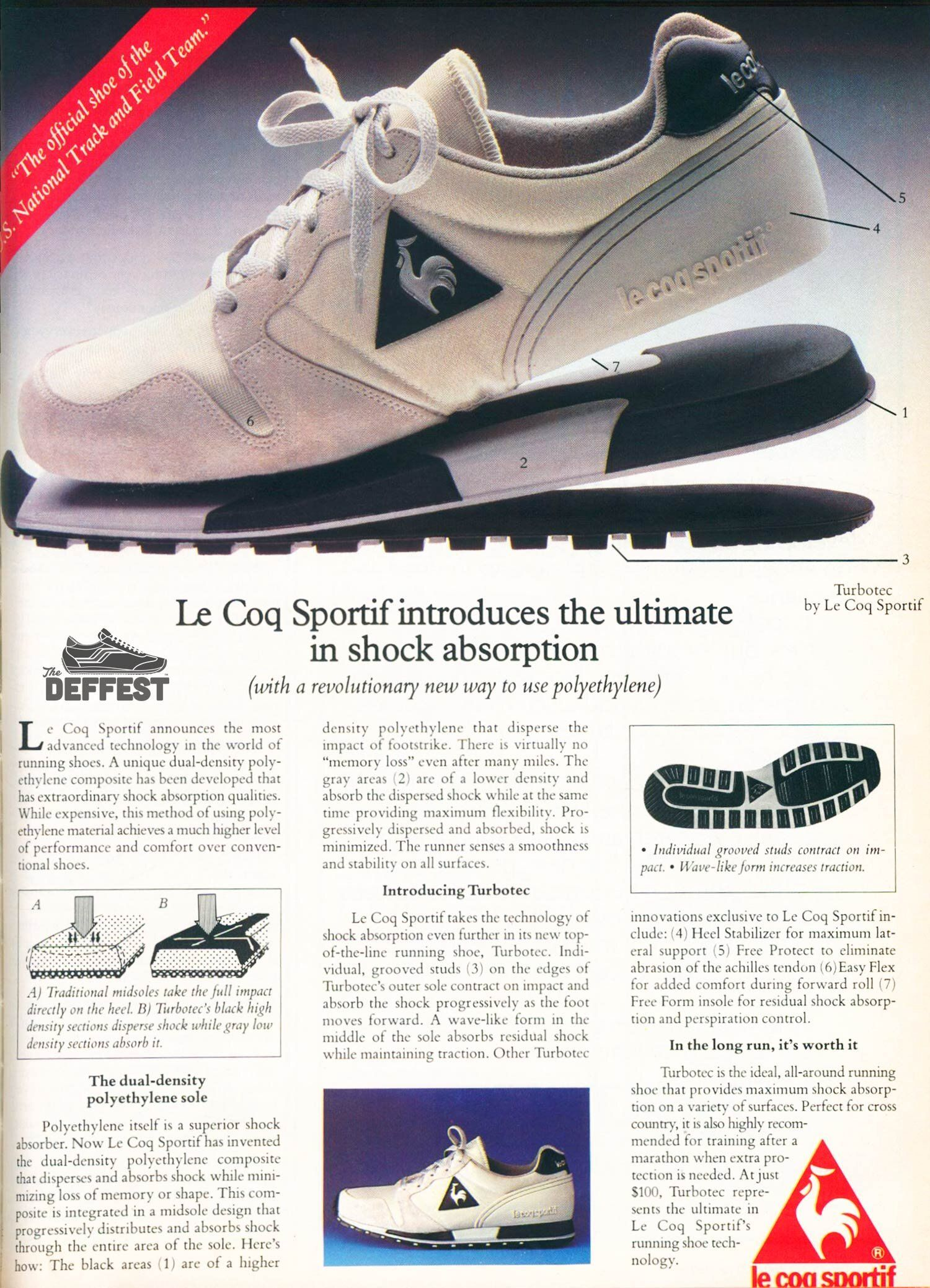 Le Coq Sportif Turbotec Vintage Sneaker Ad With Images Vintage