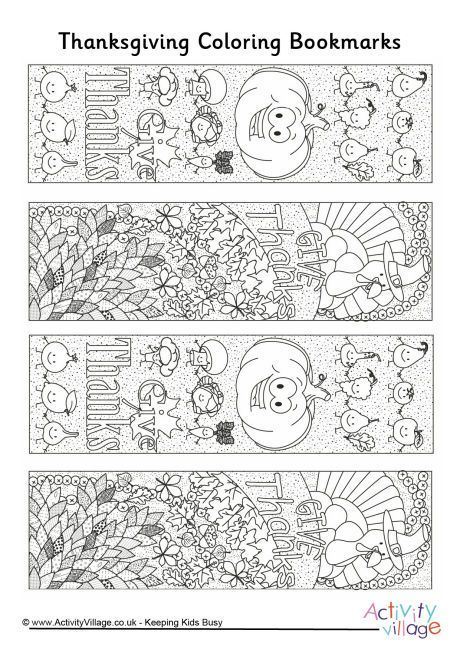 Thanksgiving doodle colouring bookmarks | Thanksgiving | Pinterest