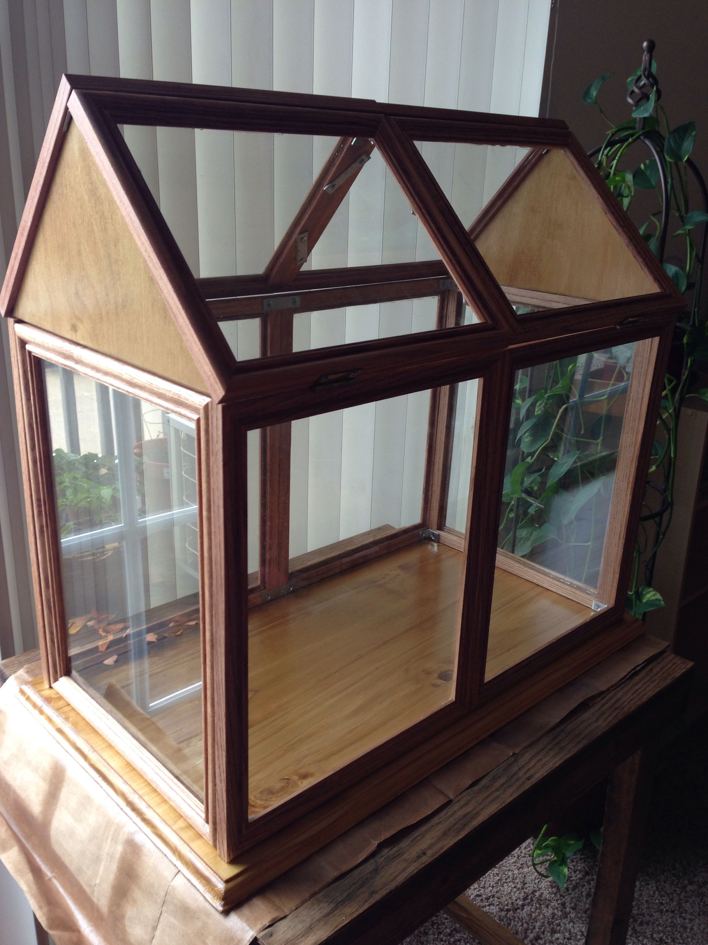 My Dad And I Built A Tabletop Greenhouse Out Of Picture Frames! Iu0027m