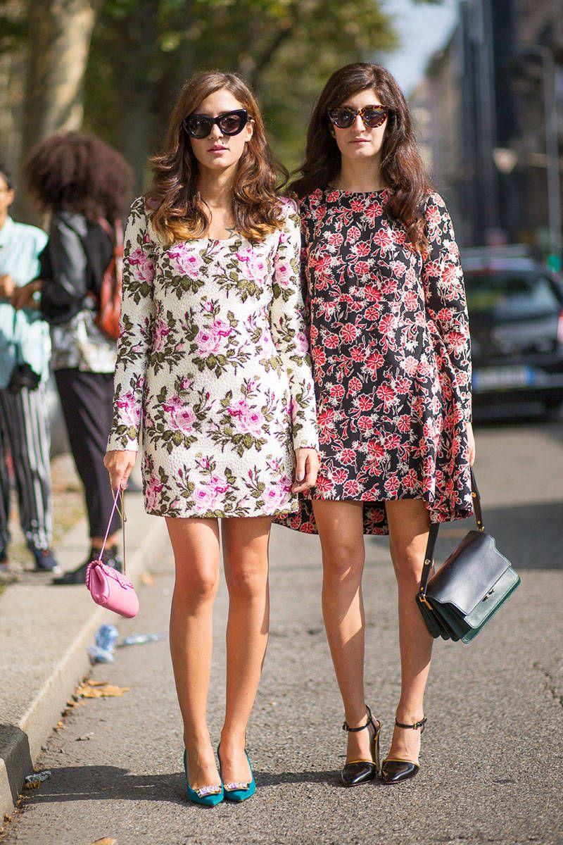 Street style friends in pretty floral prints eleonora carisi