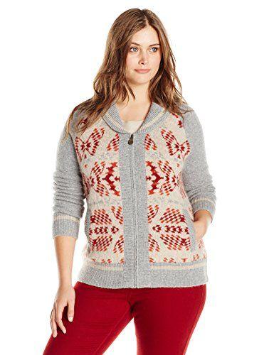 Pendleton Women's Plus-Size Mountain Zip Cardigan Sweater, Soft Grey Heather Multi, 2X Pendleton http://www.amazon.com/dp/B00YX56QVA/ref=cm_sw_r_pi_dp_XQgfxb150N51T