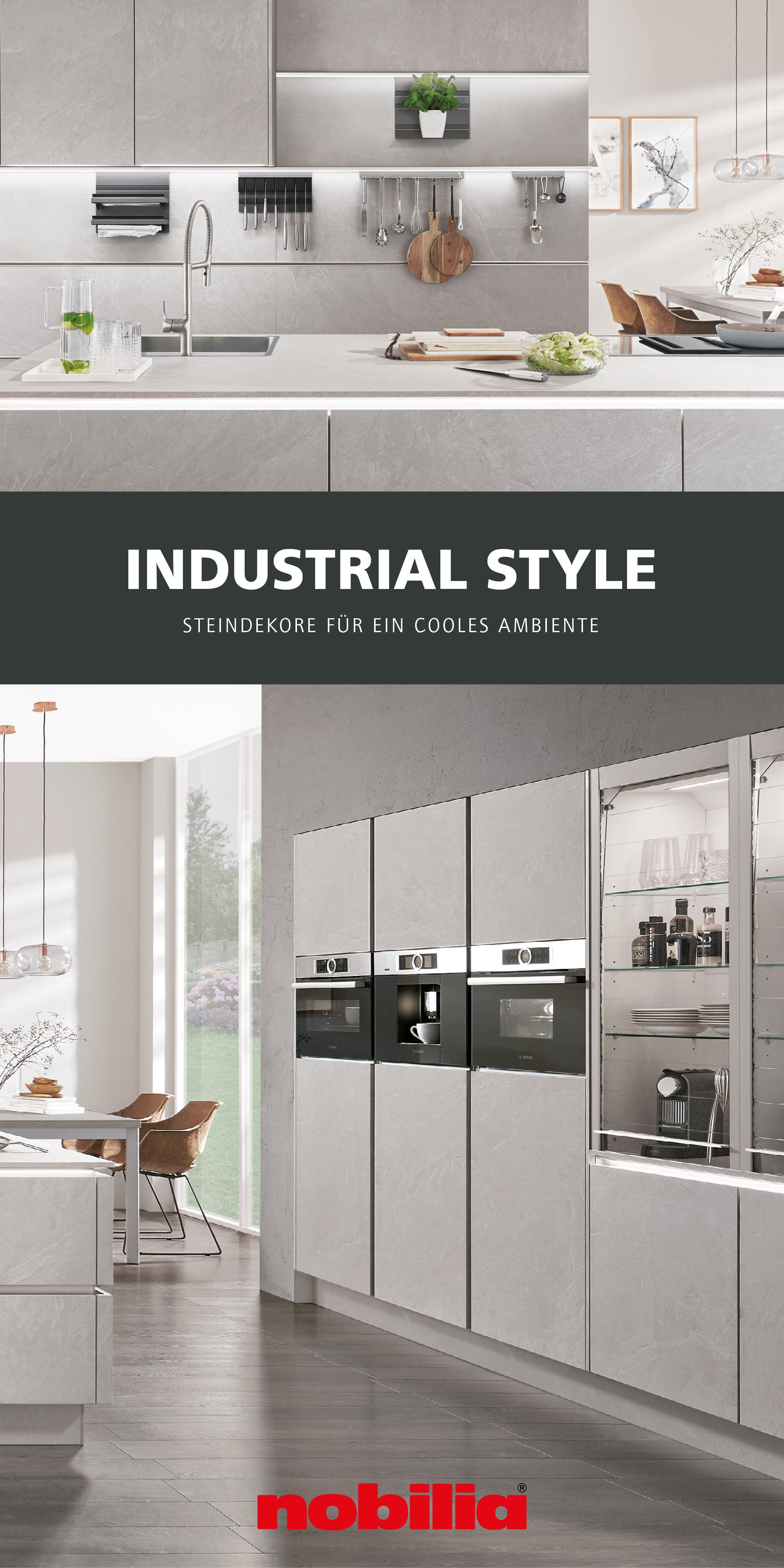 Industrial Style In Der Kuche Kuche Beton Kuche Nobilia Kuchen