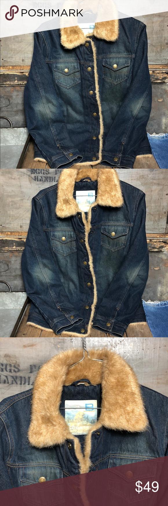 Cole B Country Distressed Faux Fur Jean Jacket Distressed Denim Jacket Fur Jean Jacket Jackets [ 1740 x 580 Pixel ]