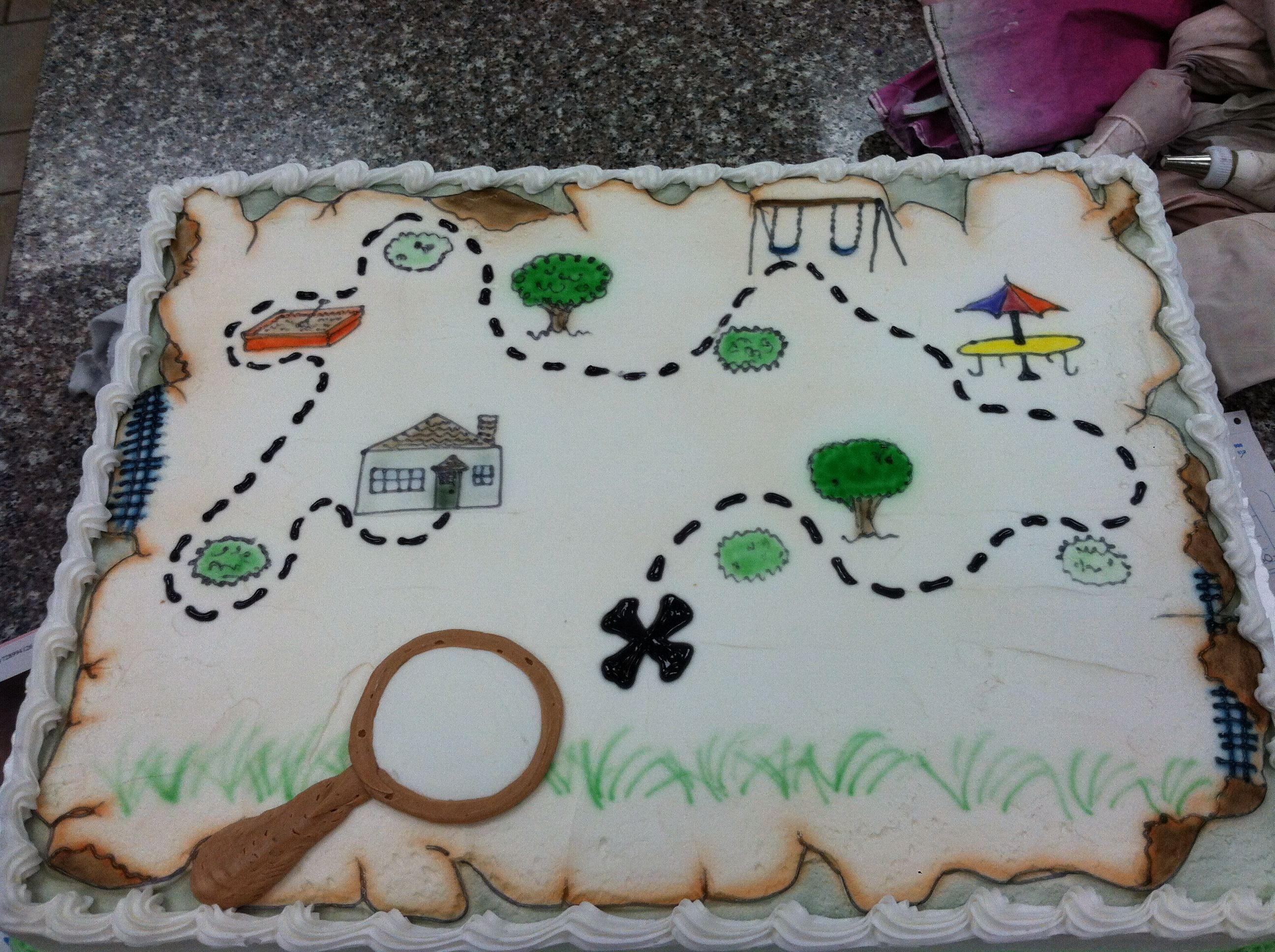 Scavenger Hunt Mystery Pirate Party Cake