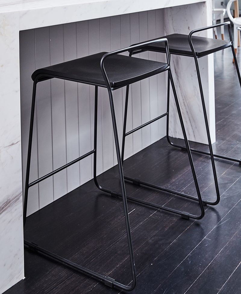 Paint My Stools Matte Black Krafter Kitchen Counter Stool Matt Black