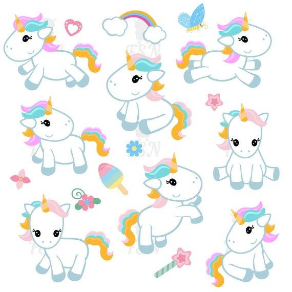 Unicorn adorable. Cute clipart clip art