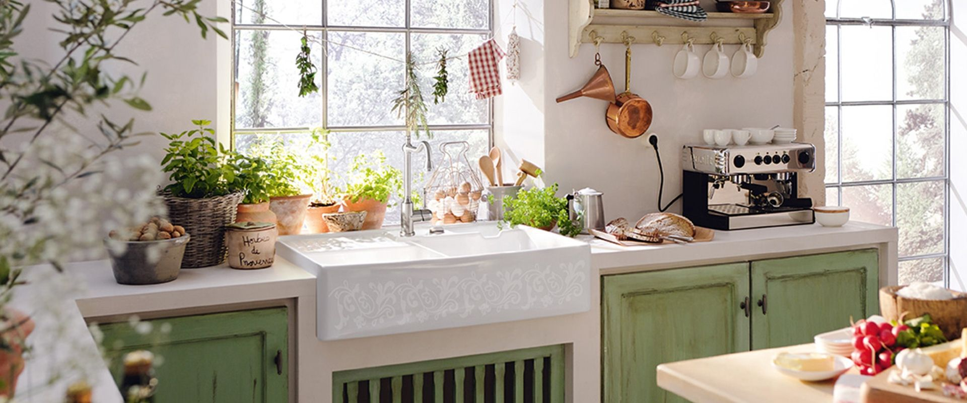 Villeroy And Boch Farm Sink Country style kitchen, Sink