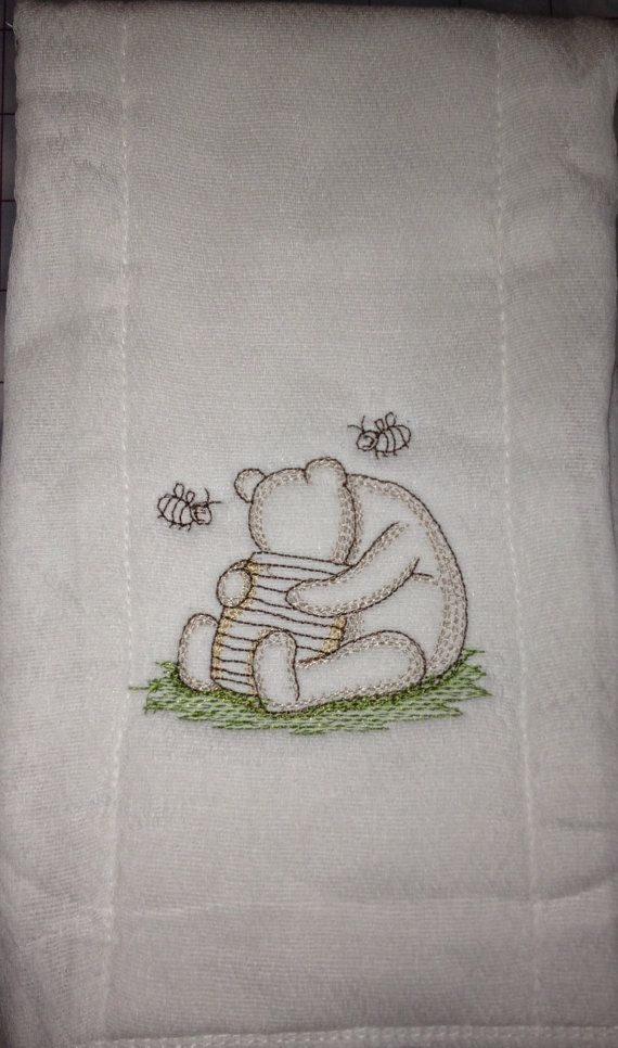 Baby Personalized Burp Cloth Pooh