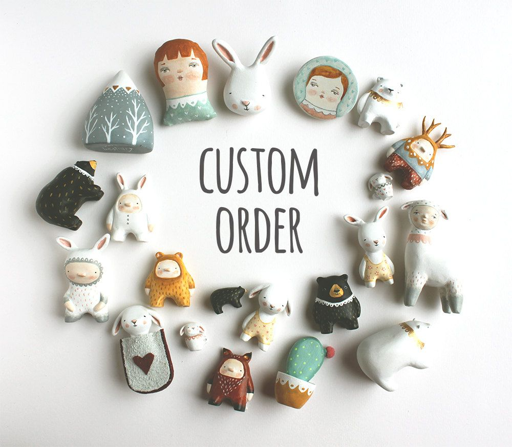 Cute and quirky miniatures handmade by Flora Panichelli by sweetbestiary #craftsaleitems