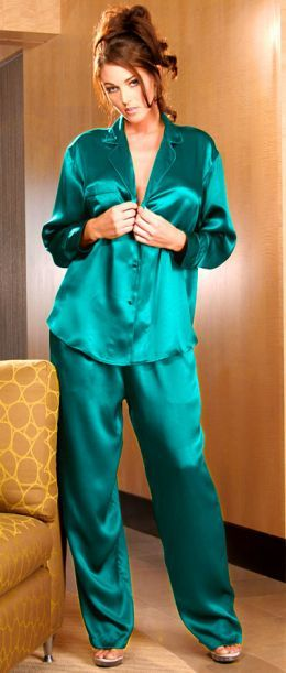 big collection clients first shop for official The Seductive Sexiness Of Silk Pajamas   Things I love ...