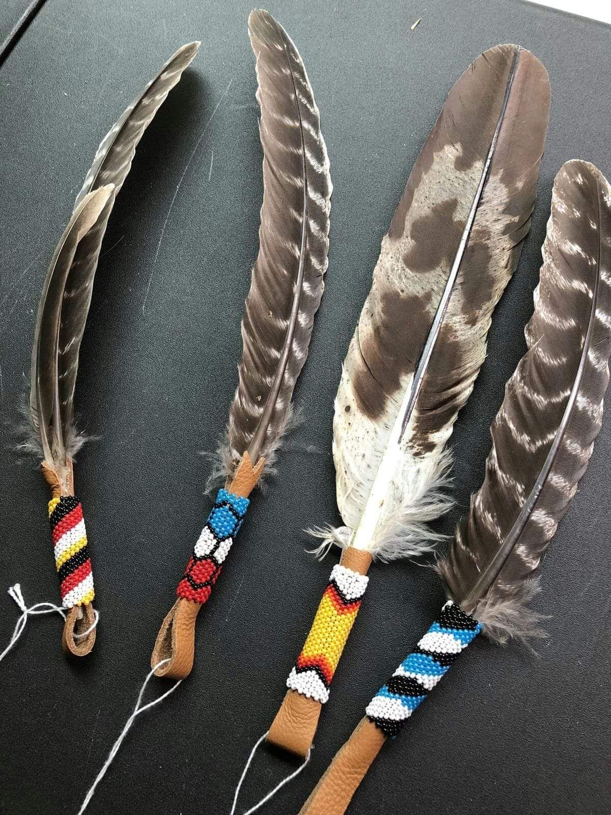 Kugelschreiber Indianer mit Federn