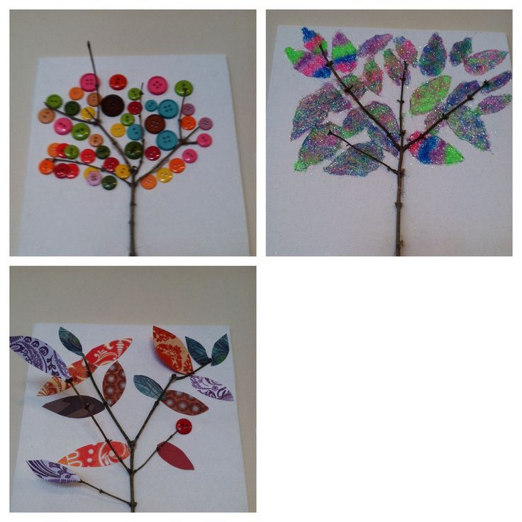 Nursing home crafts activities google search craft ideas for twig art this is a craft i did with residents at the nursing home i work at very easy just take a twig hot glue it i canvas then you can make negle Gallery