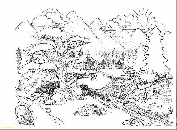 Nature Coloring Pages Pdf Phong Cảnh