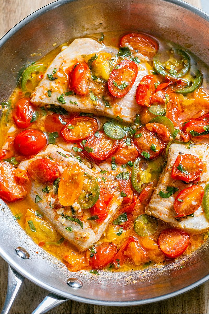 Pan Seared Tilapia In Tomato Basil Sauce Tilapia Recipes Healthy Recipes Recipes