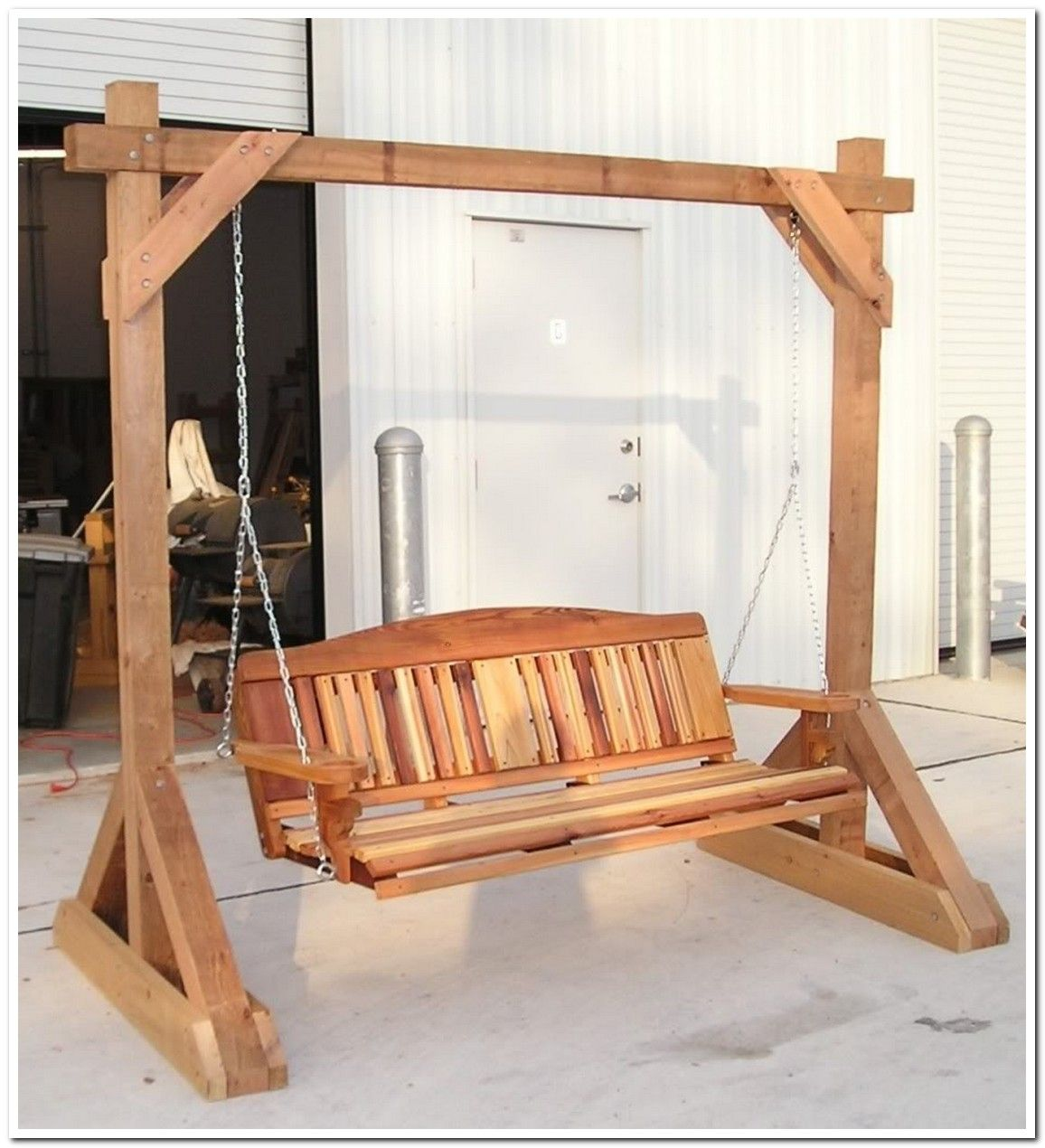 Outdoor swing frame home home home pinterest - Outdoor mobel holz ...