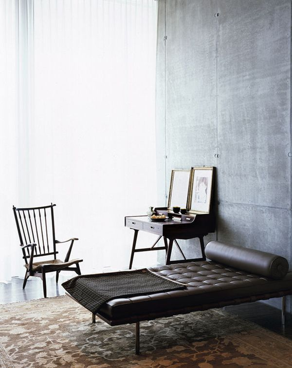 Barcelona Couch by Mies van der Rohe