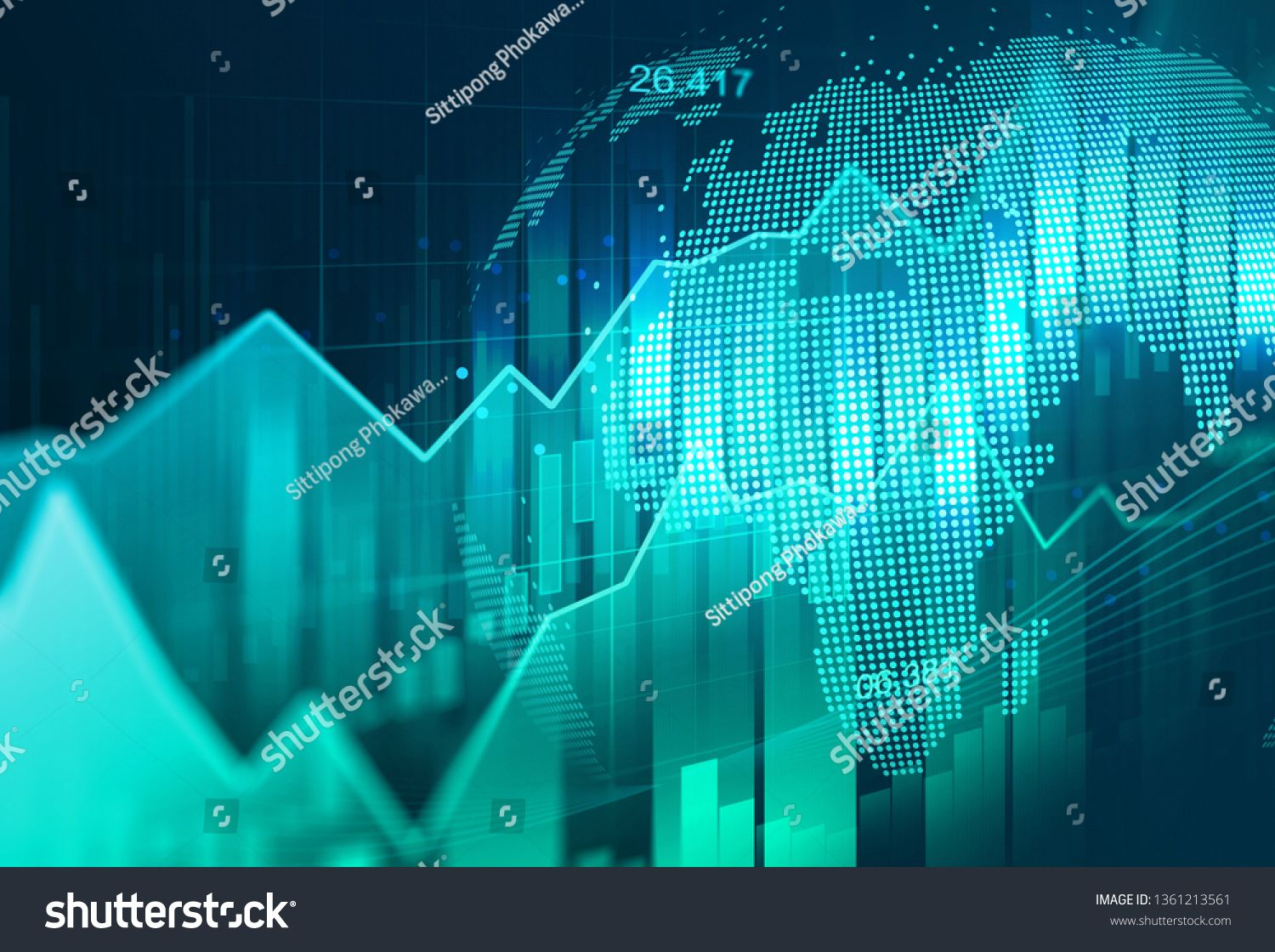 Stock Market Or Forex Trading Graph In Graphic Concept Suitable For Financial Investment Or Economic Trends Economic Trends Mind Map Art Financial Investments