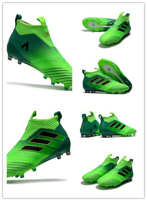 quality design 47a00 f395d adidas Ace17+ Purecontrol FG Vert Noir Matière Primeknit, Fil tissé pour  plus de confort et de légèreté. Elle s adapte parfaitement à ton pied.