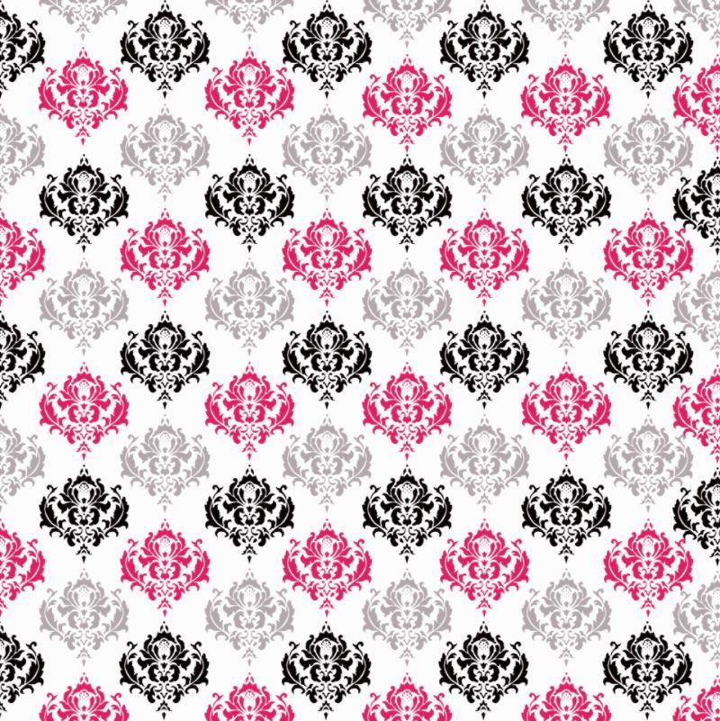 Pink Silver Black