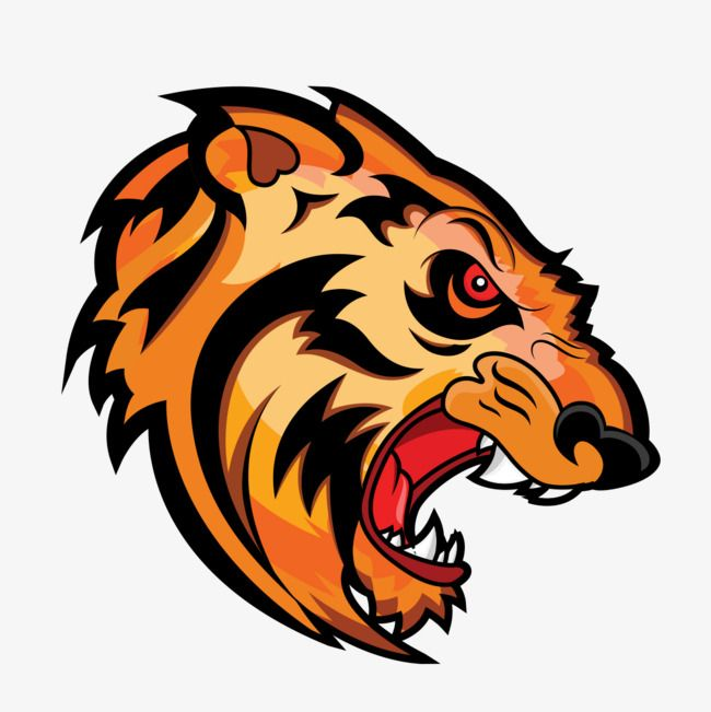 Angry Tiger Mascot Face Tiger Face Angry Tiger Png And Vector With Transparent Background For Free Download Angry Tiger Tiger Face Mascot