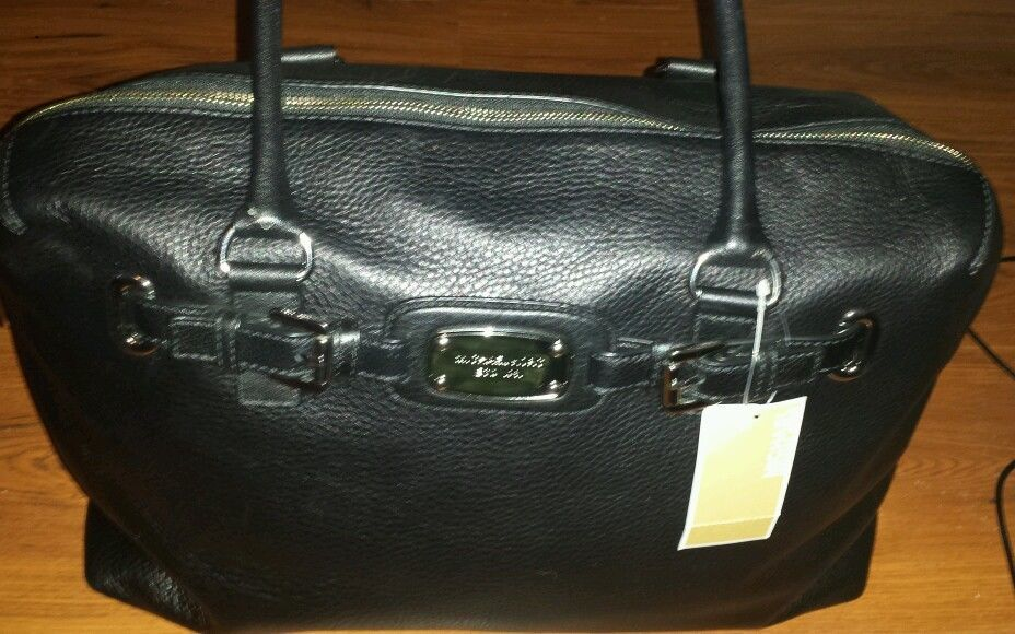 Michael Kors Hamilton Leather Weekender Bag Tote Uni Overnight Nwt