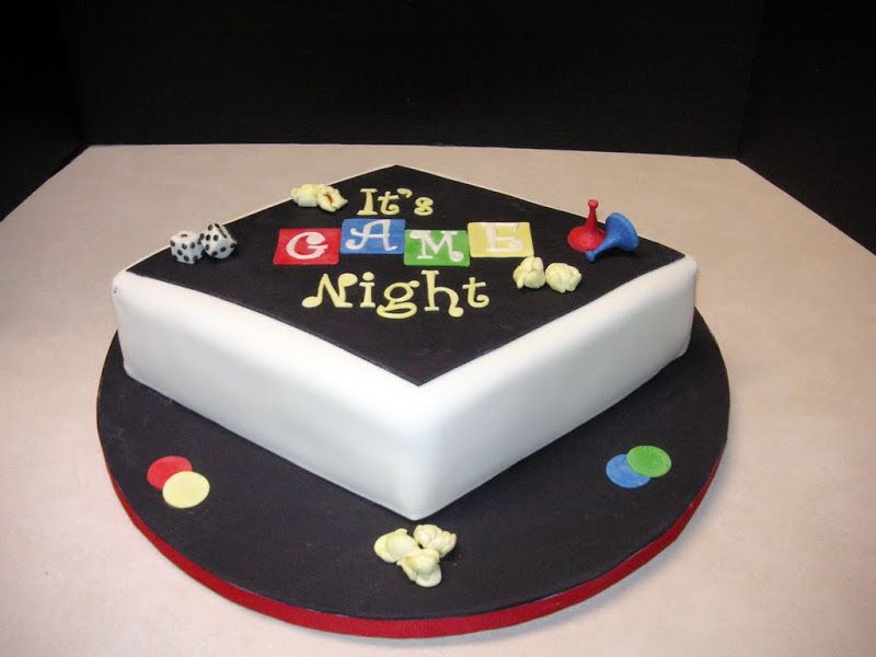 Pleasing Game Night Cake Kids Game Night Game Night Parties Christmas Funny Birthday Cards Online Hendilapandamsfinfo