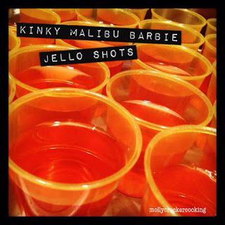 Molly Crocker Cooking: Kinky Malibu Barbie Jello Shots