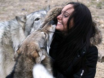 Howling Woods - a place in NJ where you get to cuddle wolves!!
