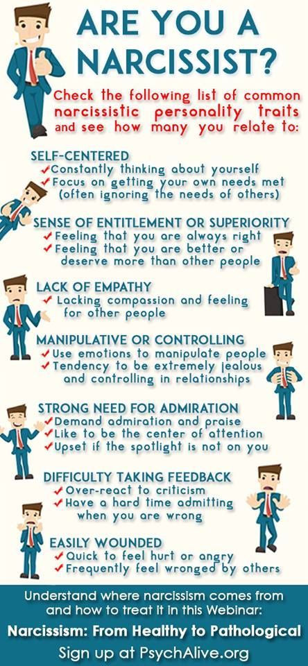 Traits of a narcissist in a relationship