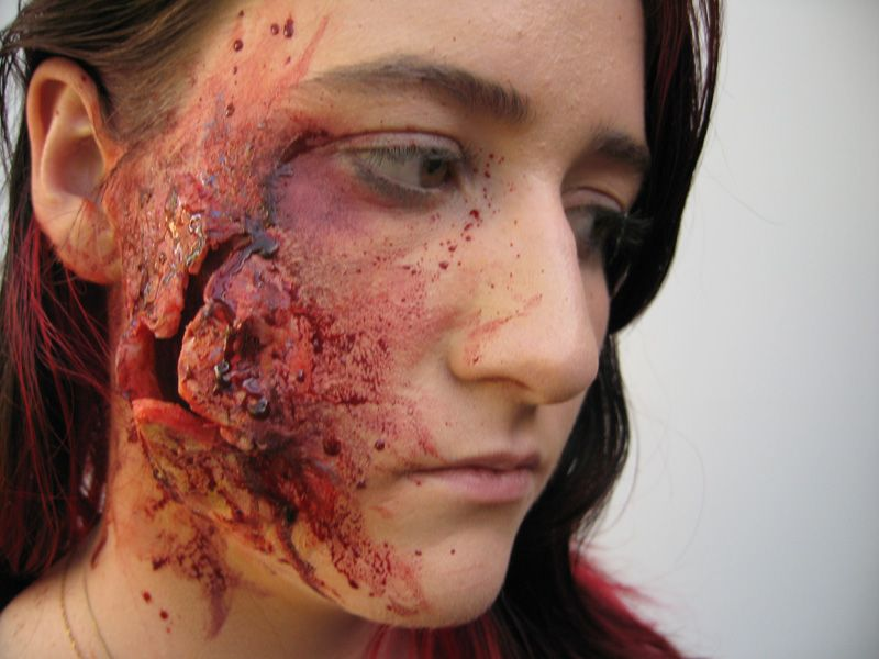 make-up, costume make-up, costumes, gore, blood, open wounds ...
