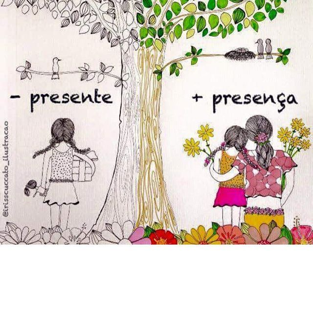 Chegando Natal! Sempre bom pensar sobre presença.  presença  presente   infancia  familia  ninguemcrescesozinho 82bbad775d