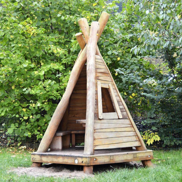 3.29.1 Kleines Tipi | Backyard, Bamboo trellis, Backyard ...