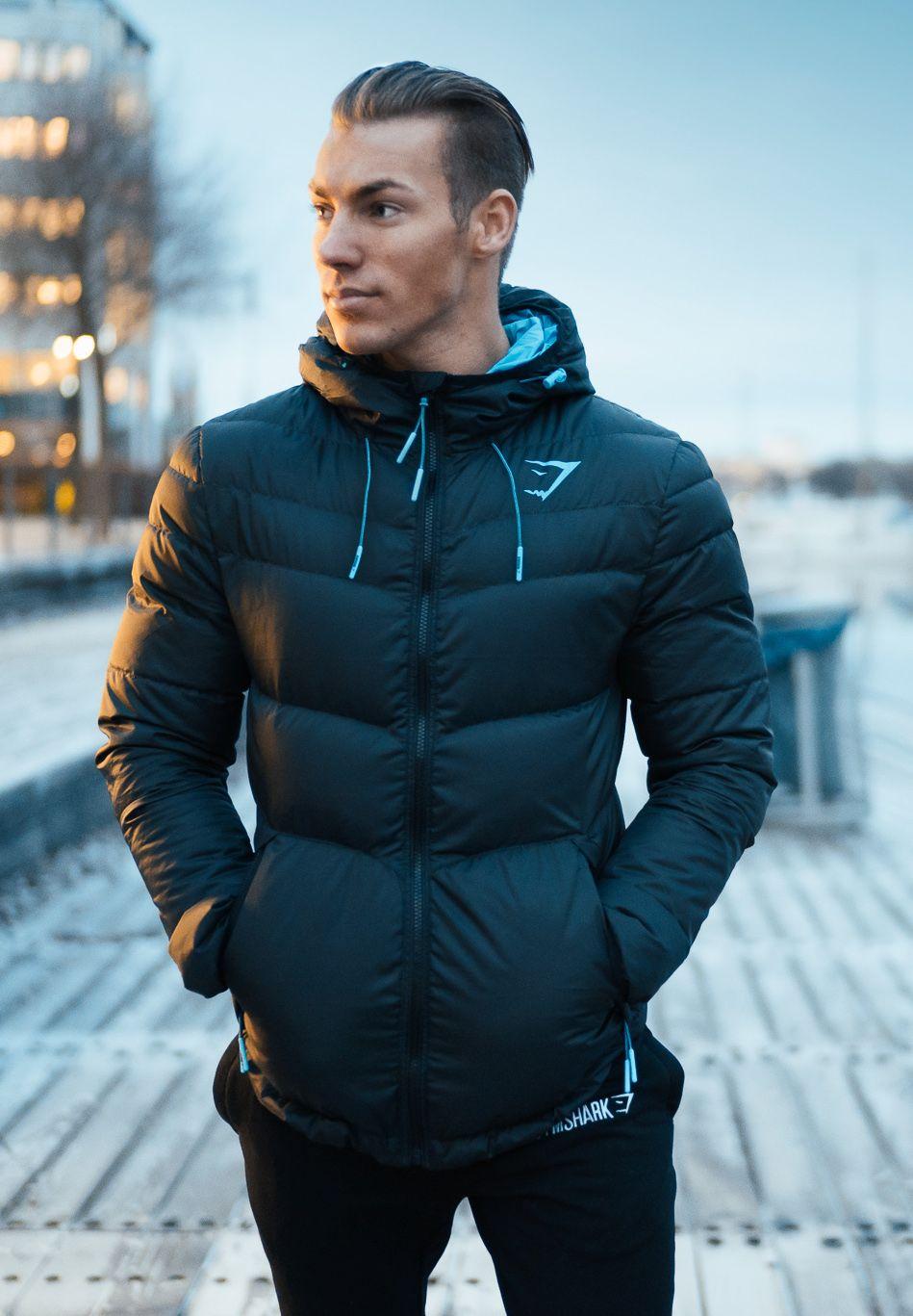 Fitted Sector Puffer Jacket Black Gymshark Pakaian Pria Pria Pakaian [ 1367 x 949 Pixel ]