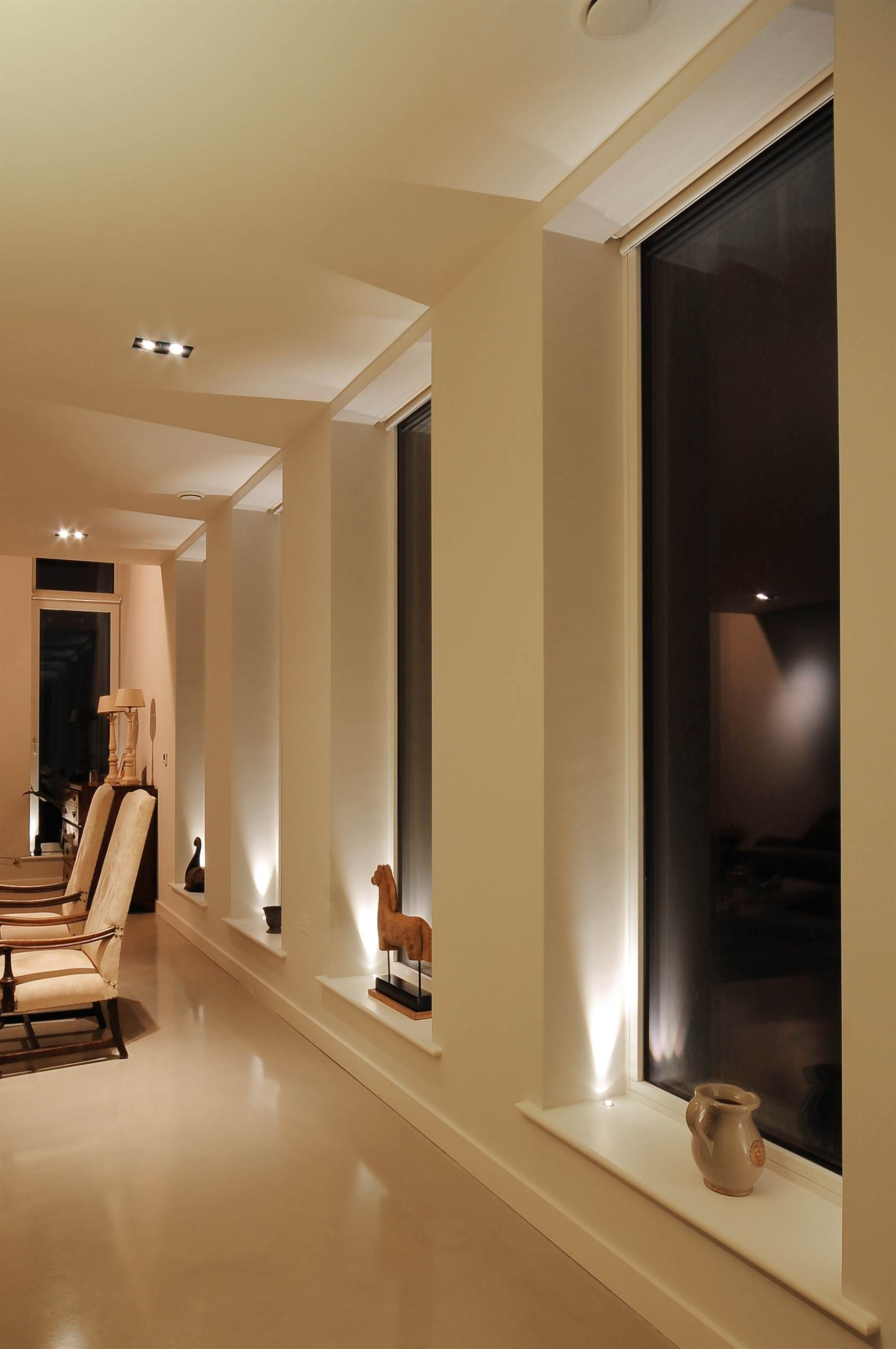 Living room lighting design mr resistor uplights in window sills mr resistor lighting aloadofball Gallery