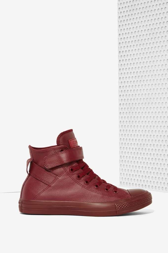 Converse Chuck Taylor Brea Leather Sneaker - Burgundy - Shoes  e46507160