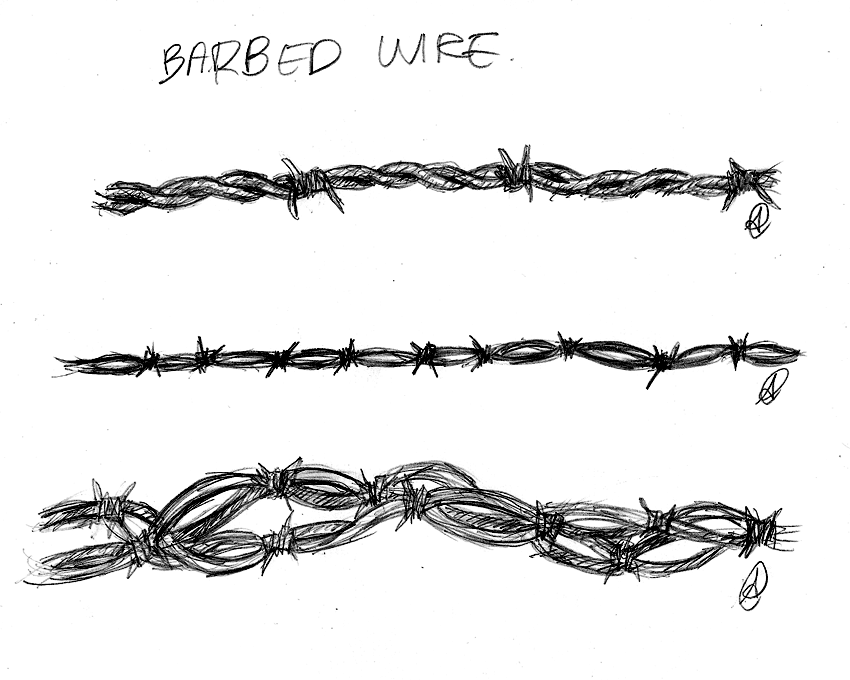 barbed wire sketch google search western ideas pinterest. Black Bedroom Furniture Sets. Home Design Ideas