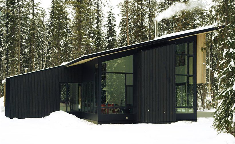 form and forests beautiful flat pack prefab concept in british columbia - Prefab Modern Cabin