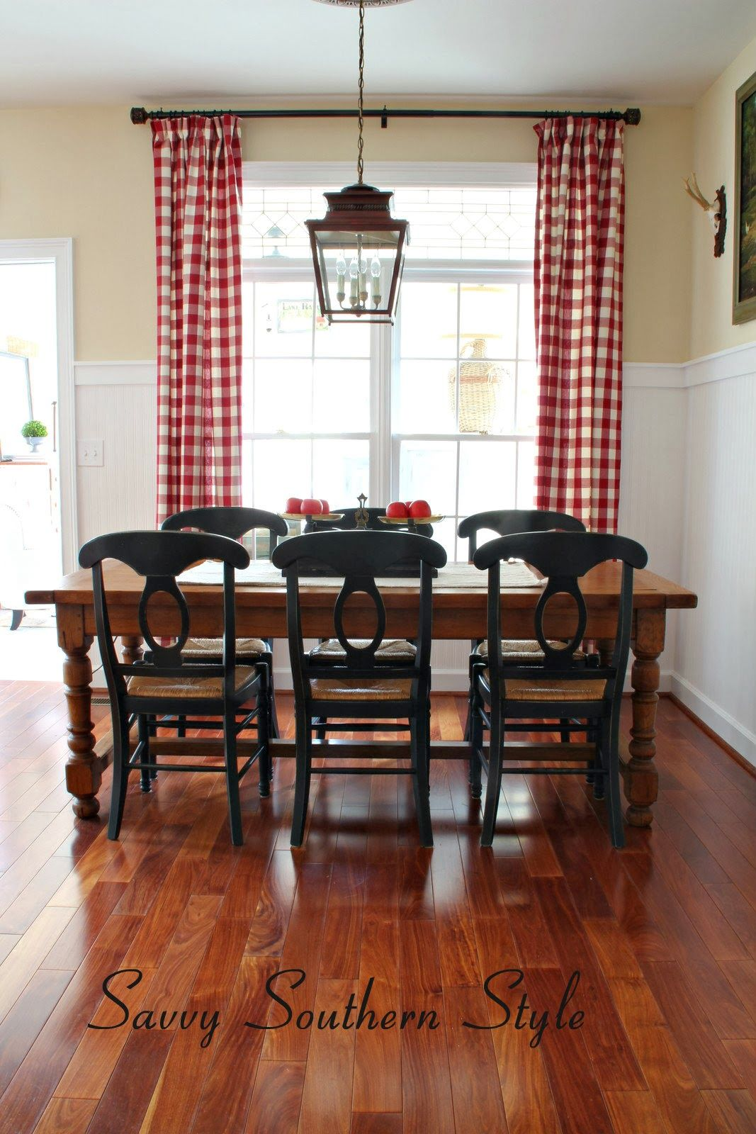 the french farm table farmhouse kitchen curtains red curtains savvy southern style on farmhouse kitchen curtains id=72797