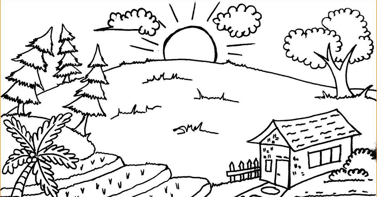 15 Sketsa Pemandangan Alam Yang Simpel Seperti Yang Sudah Kami Bahas Diatas Untuk Menggambar Sketsa Kalian Tentunya Membutuhka Di 2020 Sketsa Kritik Seni Buku Gambar