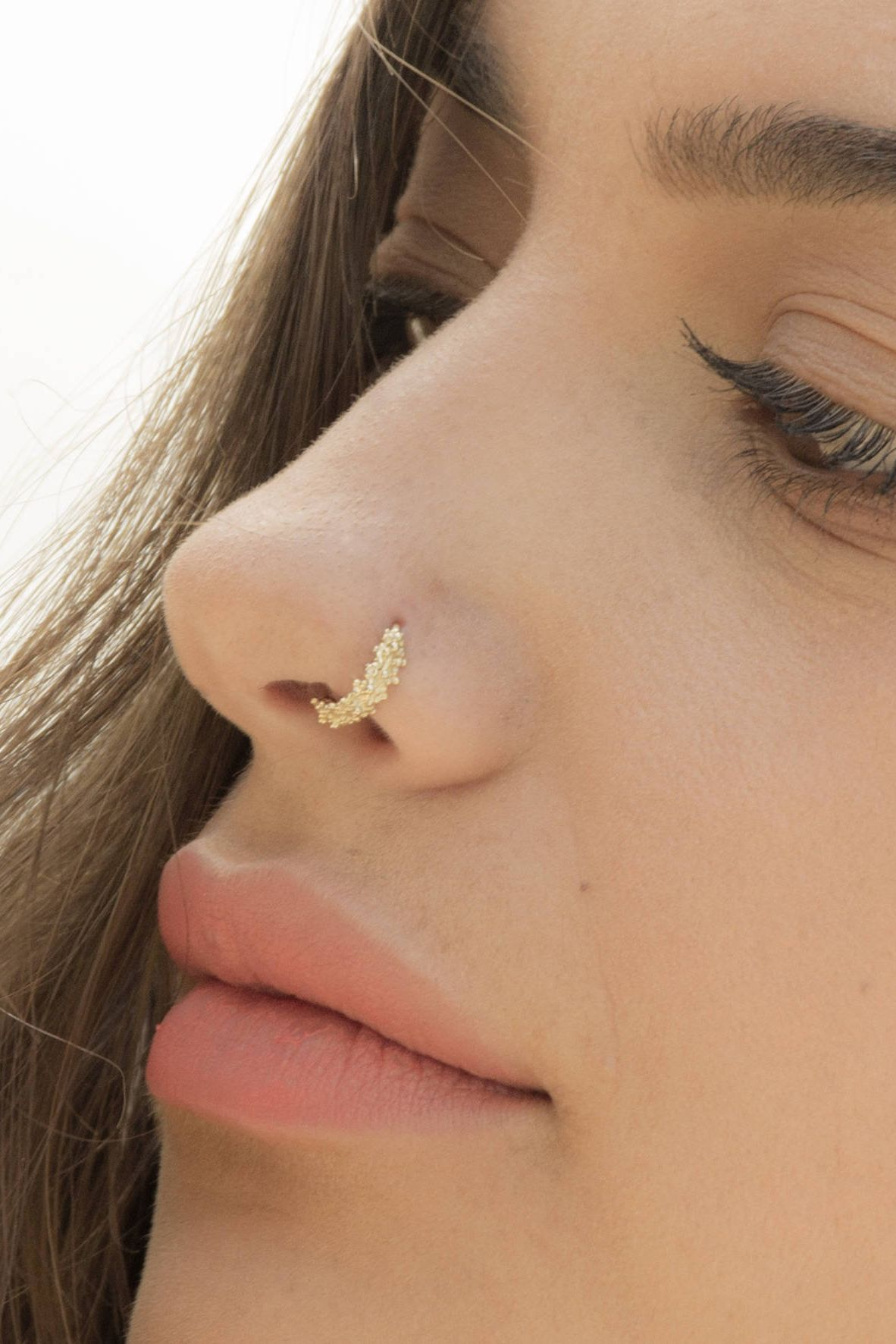 Unique Nose Ring Indian Nose Ring Tribal Nose Ring Gold Nose