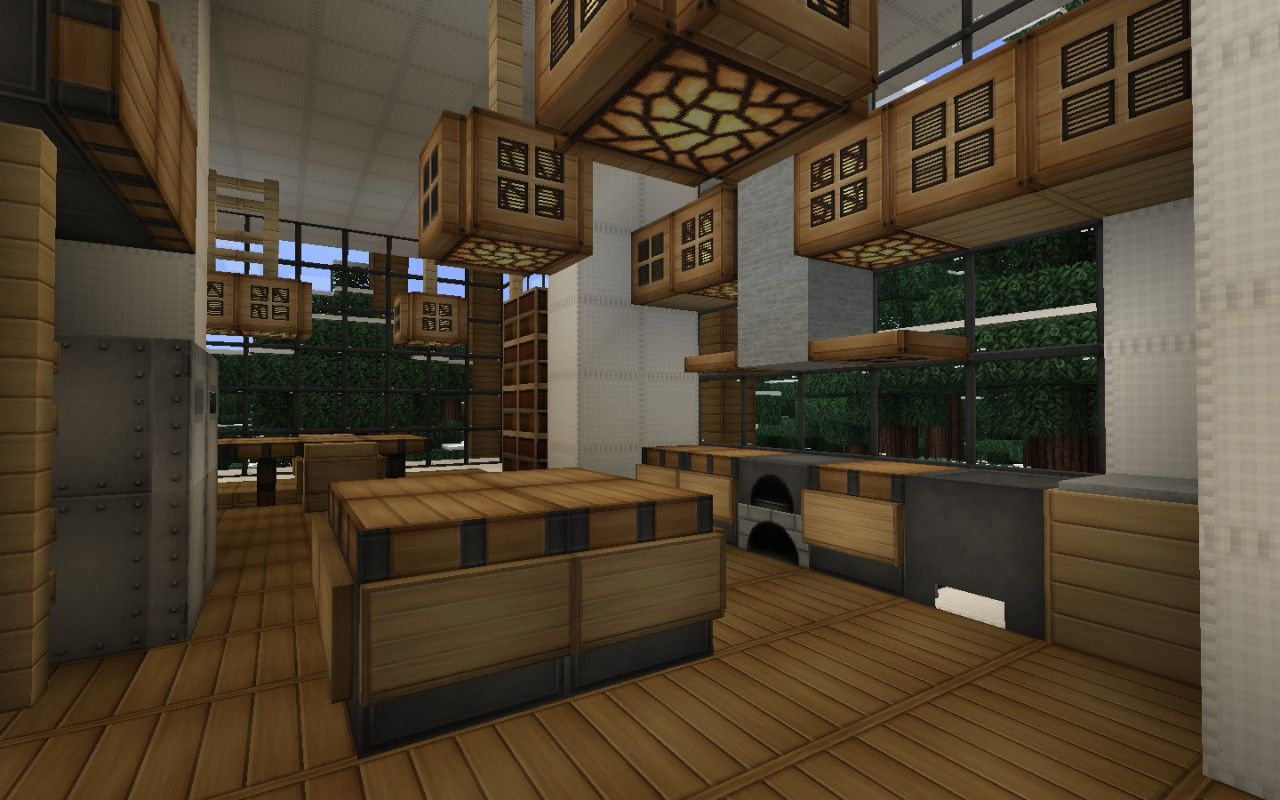 Minecraft kitchen ideas design