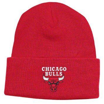 7291b1fd838 Amazon.com  Chicago Bulls Red Cuff Beanie Hat - NBA Cuffed Knit Adidas Cap   Sports   Outdoors