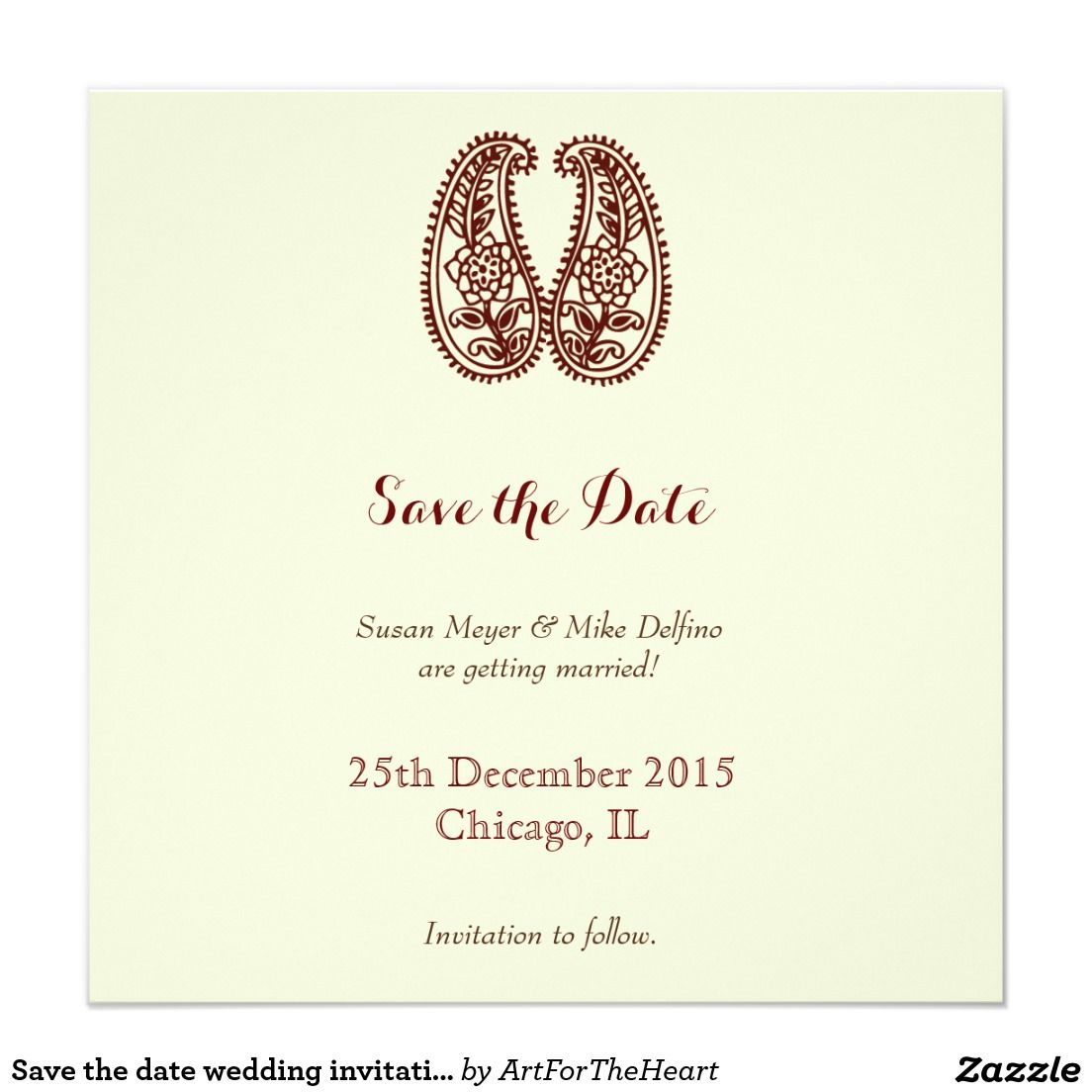 Save the date wedding invitation card brown white wedding save the date wedding invitation card brown white stopboris Images
