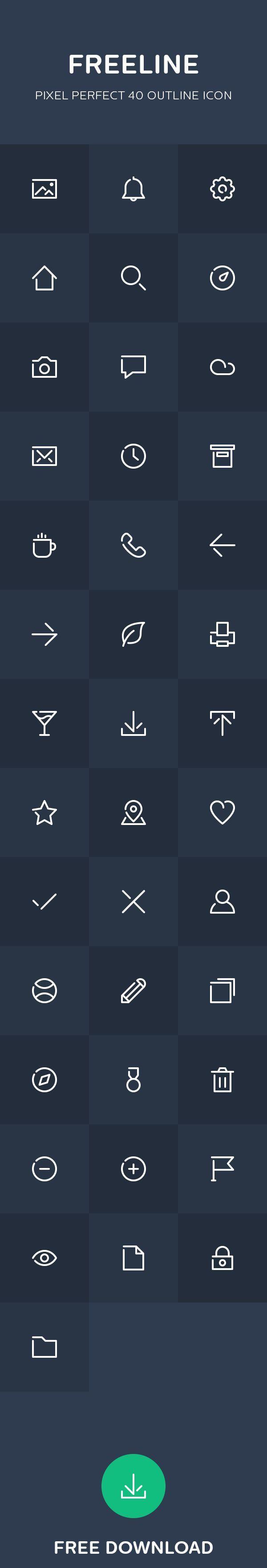 Freeline 40 Free Outline Icon On Behance Iconos App Icon