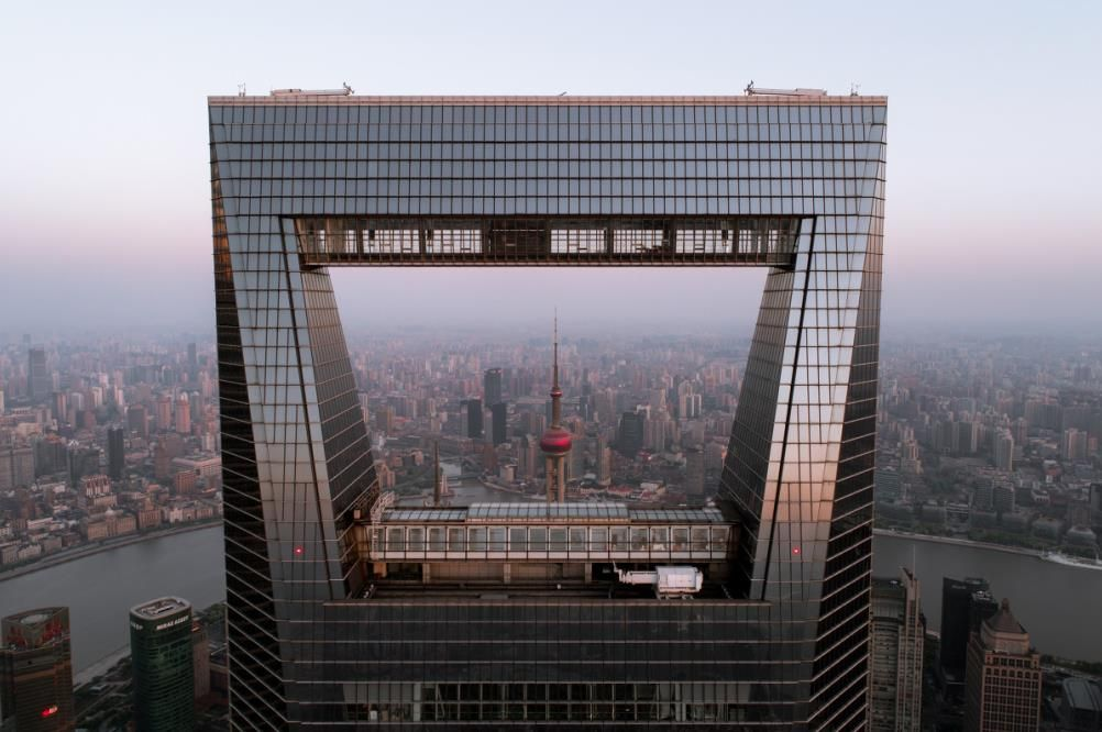 The giant aperture of Shanghai World Financial Center