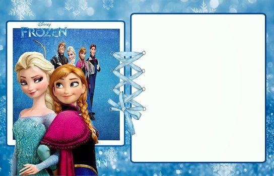Resultado De Imagen Para Marcos De Foto De Frozen Marcos De Fotos - Party invitation template: frozen birthday party invitation template