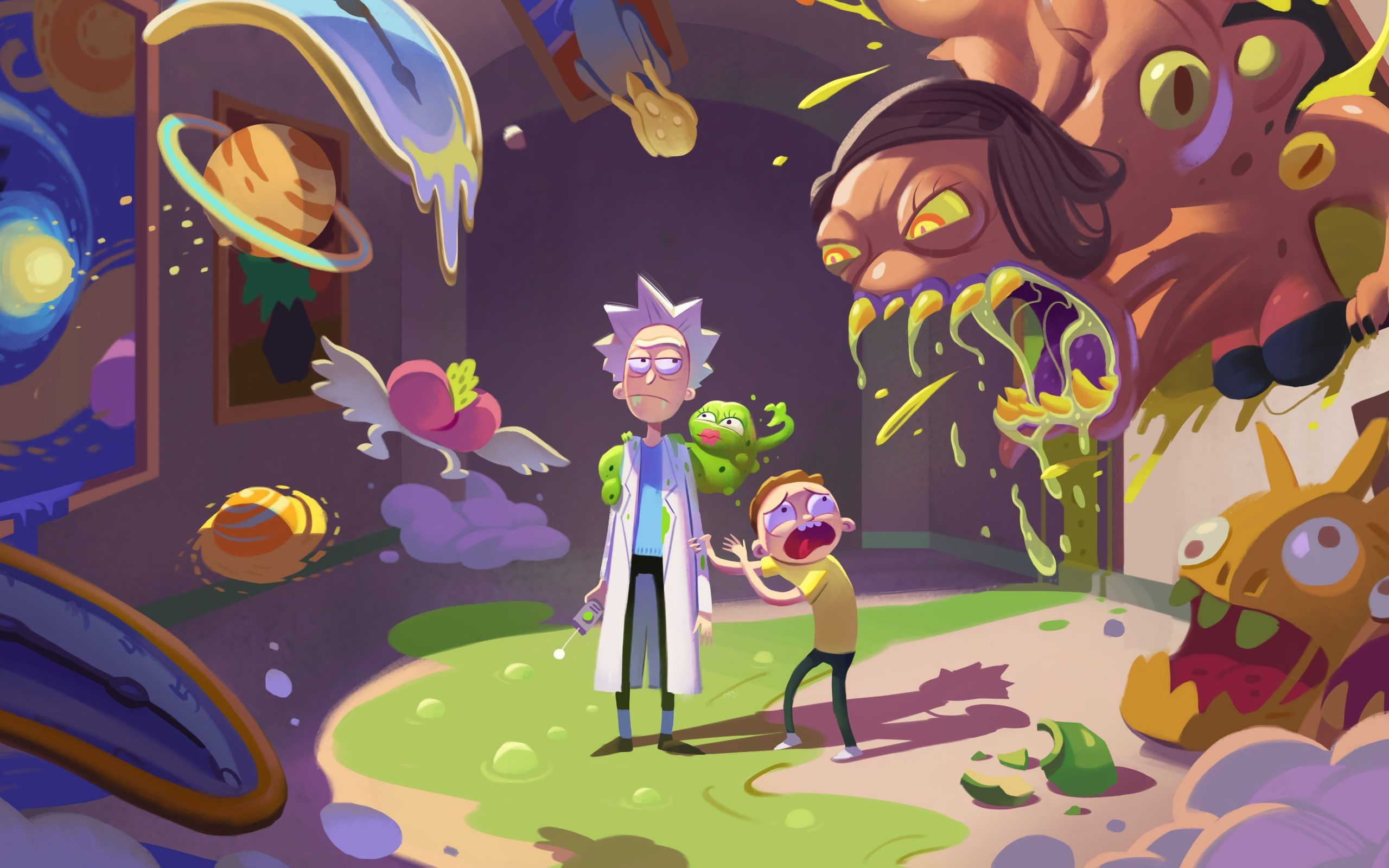 Rick And Morty Season 4 Wallpaper 4k Ultra Hd Id4114 Within The Incredible Rick Y Morty Wallpapers 4k In 2020 Cartoon Wallpaper Vaporwave Wallpaper Rick And Morty
