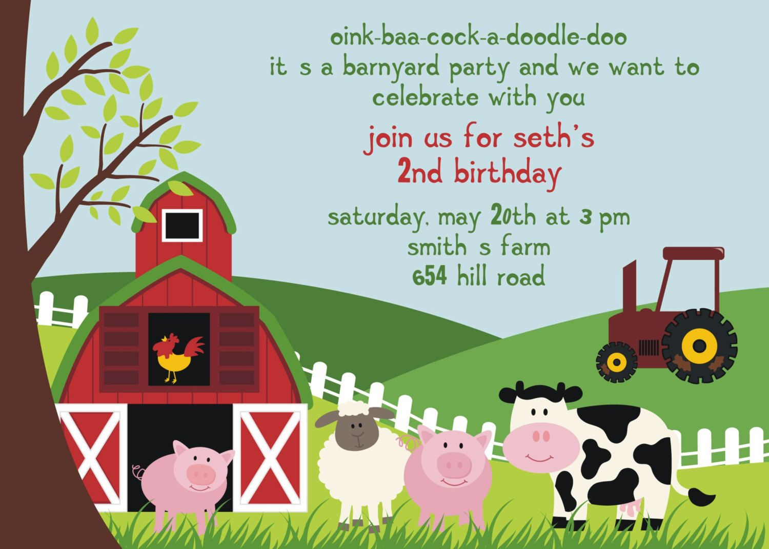 Farm Animal Birthday Party Invitation by invitingfriendz on Etsy ...
