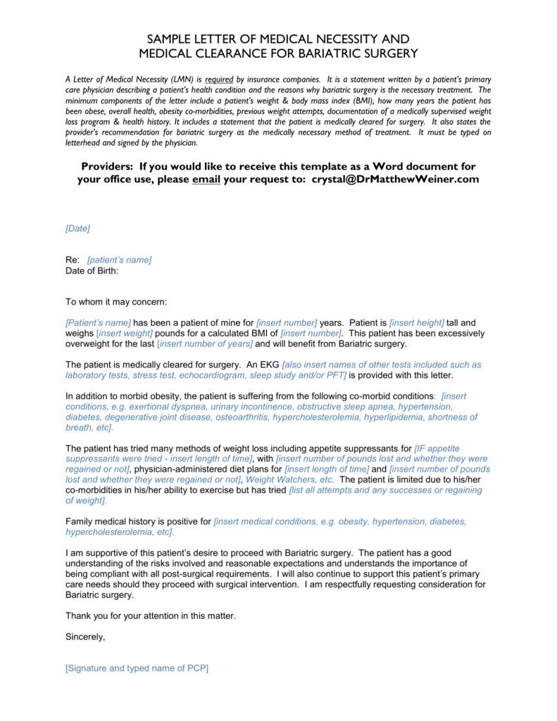 Valid Sample Letter Of Medical Necessity Download,https